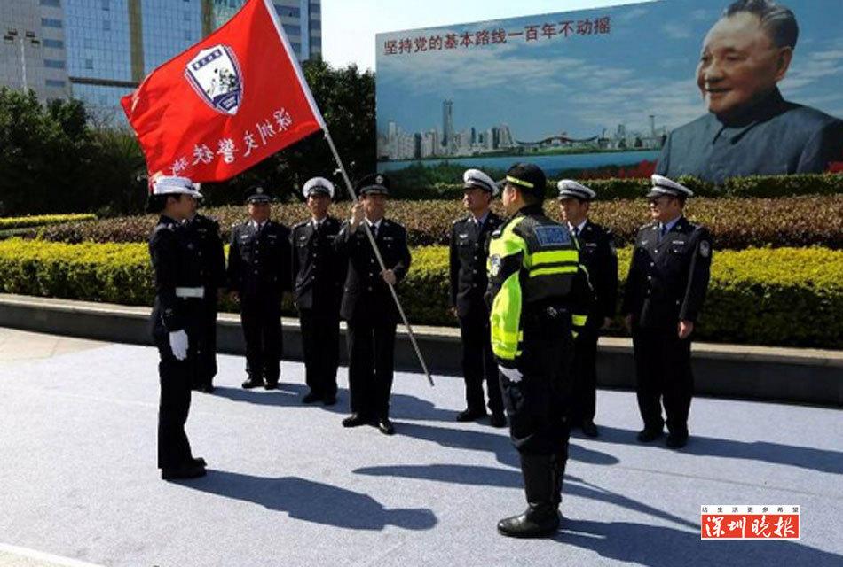 深圳成立铁骑队 交通事故有望5分钟见警