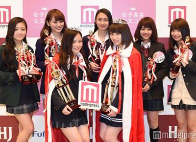 高三女生永井理子获2016年日本第一可爱女高中生桂冠(图)