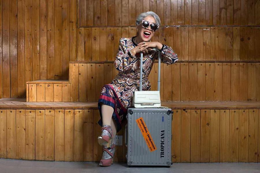 80岁老人逆天时装照 演绎晚年后现代生活