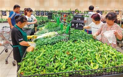 陕西CPI连续4月下降 市民菜篮里